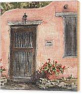 House On Delgado Street Wood Print by Sam Sidders
