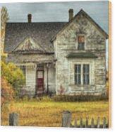 House On Elm Street Wood Print