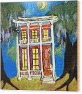 House On Esplanade  Wood Print