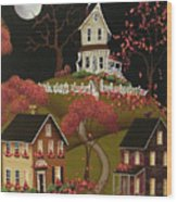 House On Haunted Hill Wood Print