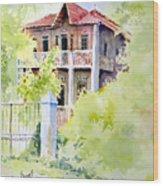 House On Jones Street Wood Print
