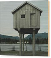 House On Stilts, Coal Harbour Vancouver Wood Print