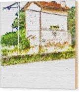 House On The Railway Wood Print