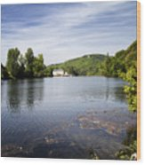 House On The River Bend - South West France Wood Print