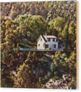 House On The Side Of The Mountain Wood Print