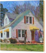House Proud In Cary Wood Print