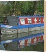Houseboat Wood Print
