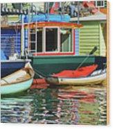 Houseboats 4 - Lake Union - Seattle Wood Print