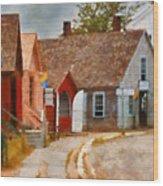 Houses - Maritime Village  Wood Print