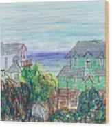 Houses At Whalehead Beach Wood Print