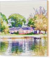 Houses By The Lake 1 Wood Print