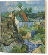 Houses In Auvers Wood Print