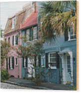 Houses In Charleston Sc Wood Print