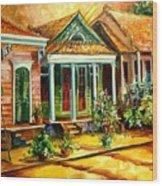 Houses In The Marigny Wood Print