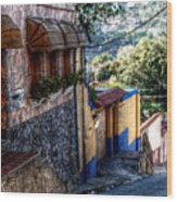 Houses Of Hatillo Wood Print
