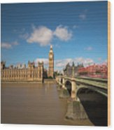 Houses Of Parliament And Westminster Bridge Wood Print
