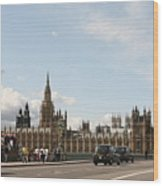 Houses Of Parliament.  Wood Print