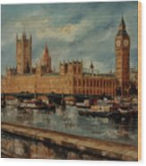 Houses  Of  Parliament  - London Wood Print