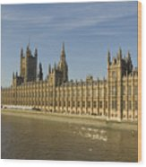 Houses Of Parliament On A Rare Day Wood Print
