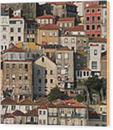 Houses Of Porto In Portugal Wood Print