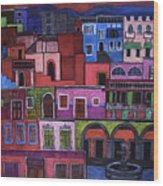 Houses Of San Miguel 2 Wood Print