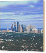 Houston 1980s Wood Print