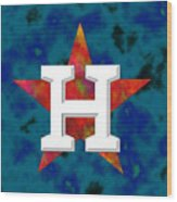 Houston Astros Logo Wood Print