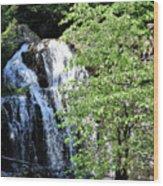 Houston Brook Falls Square Wood Print