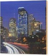 Houston City Life Wood Print