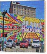 Houston, Inspired, Hip, Tasty, Funky, Savvy Wood Print