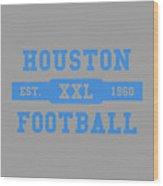 Houston Oilers Retro Shirt Wood Print