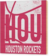 Houston Rockets City Poster Art Wood Print