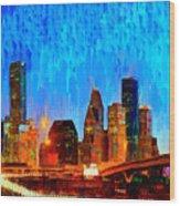 Houston Skyline 110 - Pa Wood Print