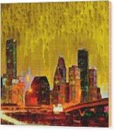 Houston Skyline 111 - Pa Wood Print