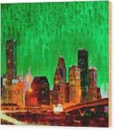Houston Skyline 112 - Pa Wood Print