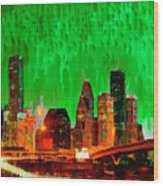 Houston Skyline 115 - Pa Wood Print