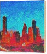 Houston Skyline 131 - Pa Wood Print