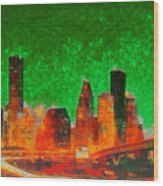 Houston Skyline 133 - Pa Wood Print