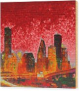 Houston Skyline 134 - Pa Wood Print