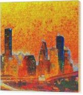 Houston Skyline 135 - Pa Wood Print