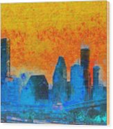 Houston Skyline 41 - Pa Wood Print