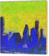 Houston Skyline 42 - Pa Wood Print