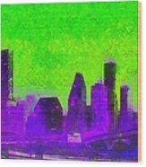 Houston Skyline 43 - Pa Wood Print