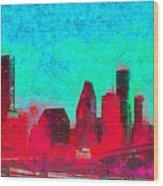 Houston Skyline 44 - Pa Wood Print