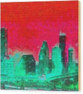 Houston Skyline 47 - Pa Wood Print