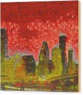 Houston Skyline 50 - Pa Wood Print