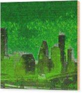 Houston Skyline 51 - Pa Wood Print