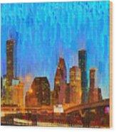 Houston Skyline 80 - Pa Wood Print