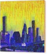 Houston Skyline 83 - Pa Wood Print