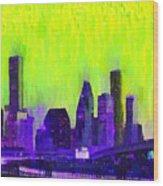 Houston Skyline 84 - Pa Wood Print
